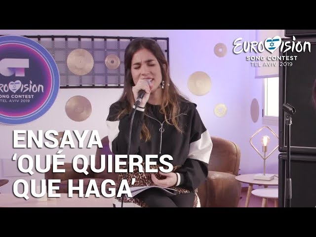 JULIA ensaya 'Qué quieres que haga' | Eurovisión 2019
