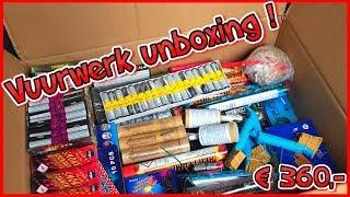 MEGA BOMBASHOP VUURWERK UNBOXING T.W.V 360,- (ILLEGAAL)