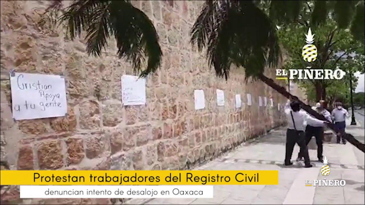 Trabajadores del Registro Civil denuncian intento de desalojo de oficinas en la capital