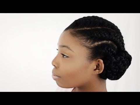 goddess braids with weave on natural hair tutorial updo