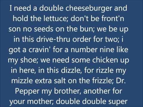 McDonalds Drive Thru Rap Lyrics