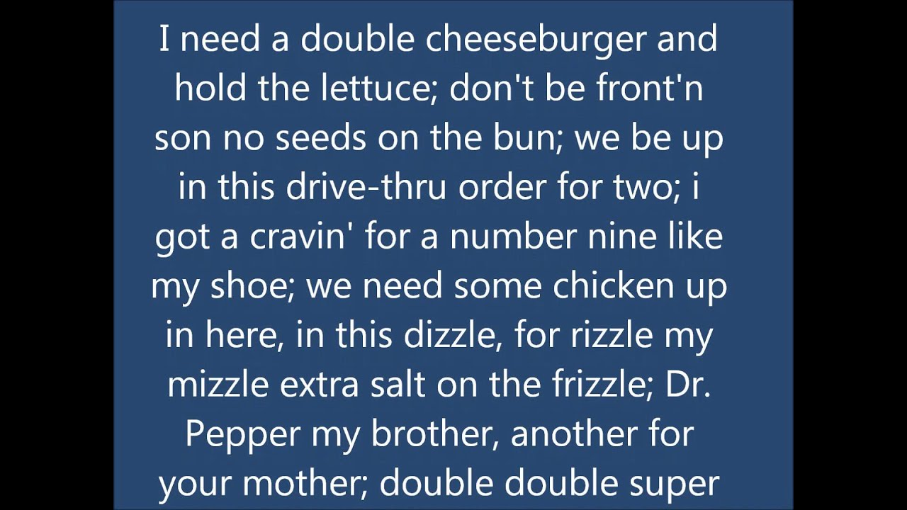 Mcdonald S Rap Food