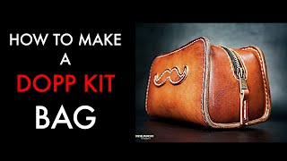 Leather toiletry bag tutorial video