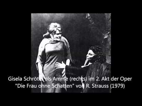 """Gisela Schröter als Amme im 2. Akt """"Die Frau ohne Schatten"""" (1979)"""