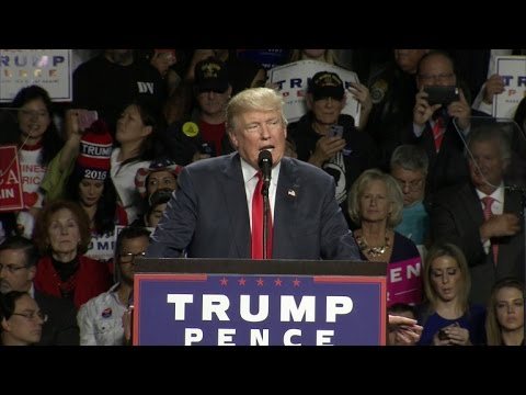 Full Video: Trump says Clinton is bad example for his son during rally in Michigan