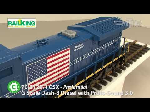 MTH G Scale Dash 8 Diesel Locomotive