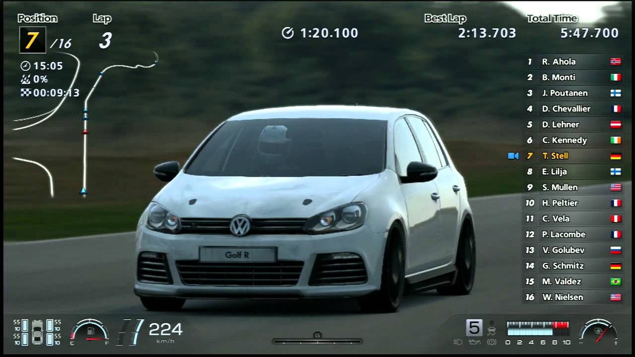 ps3 gran turismo 6 gameplay volkswagen golf r lp552 2010. Black Bedroom Furniture Sets. Home Design Ideas