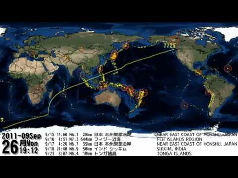 MUST SEE ! 2011 Earthquakes WORLDWIDE plotted and animated Video HAARP Project