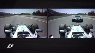 Onboard Spanish GP 2016 F1 Crash Hamilton and Rosberg