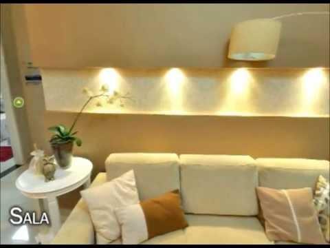 Mrv apartamento decorado modelo padr o 2 quartos youtube for Dormitorio 2 50 x 2 50