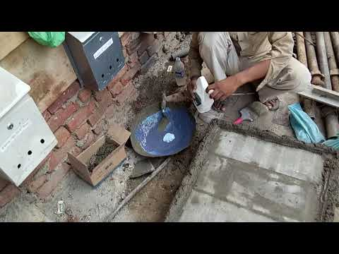 Without sunk bathroom water proffing work.(Trubuild water proffing letex)