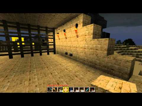 Minecraft  piston creation #9: THE MEGA  PISTON GATE (4x8 blocks!)