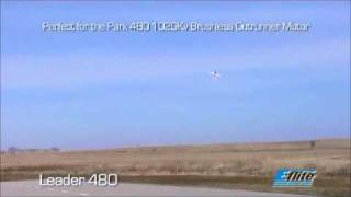 e flite leader 480 ep pattern plane demo flight