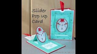 No.501 - Slider Pop Up Christmas Card - JanB UK #7 Top Stampin' Up! Independent Demonstrator