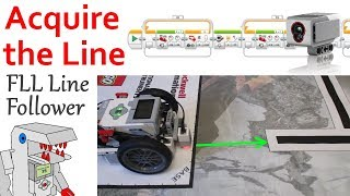 Program your FLL Robot to Acquire the Line for Line Following