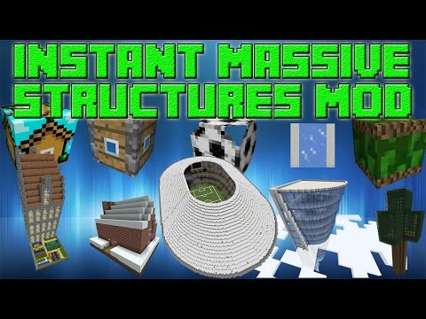 Minecraft Mod Review - Instant Massive Structures Mod (Na sr