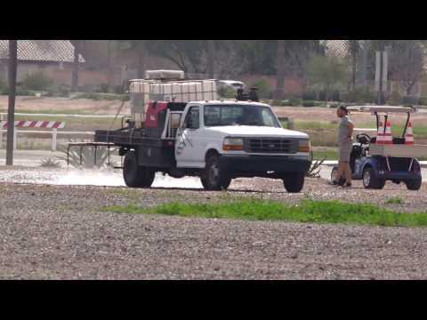Soilworks Durasoil Spraying Video   Camelback Ranch Parking Lot