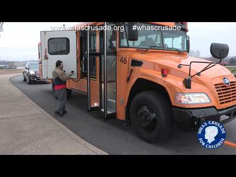 Adair Co. Schools gets new school bus thanks to your generosity to WHAS Crusade