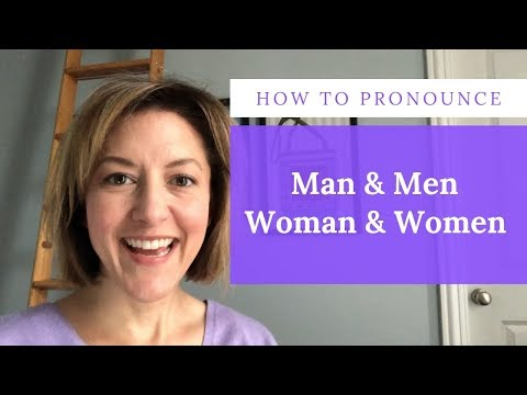 How to Pronounce MAN 👨 MEN 👬 WOMAN 👩 WOMEN 👭 - English Pronunciation Lesson