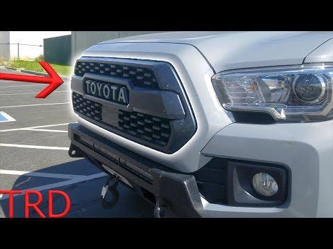 Tacoma TRD PRO 2018 Grill Install - WITH Sensor!