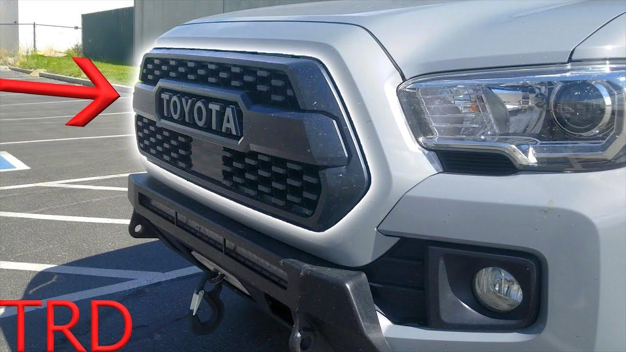 Tacoma trd pro 2018 grill install with sensor