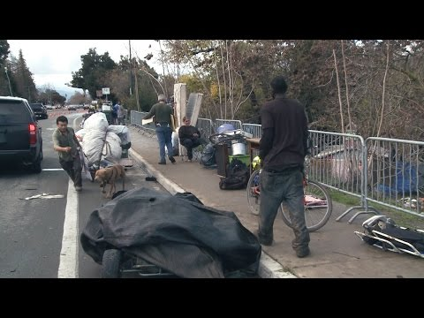 Tent cities rise amid housing shortage in Silicon Valley