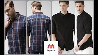 HIGHLANDER Shirts from Myntra | Black Shirt | Navy & Red Checked Casual Shirt