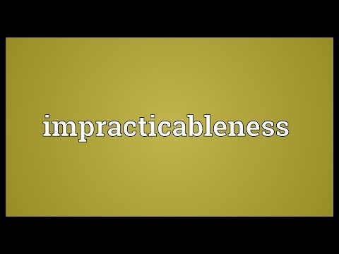Header of impracticableness