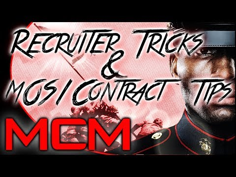Marine Corps Stories: #23 Recruiter Tricks - MOS & Contract Tips (MW3/BO2 Gameplay)
