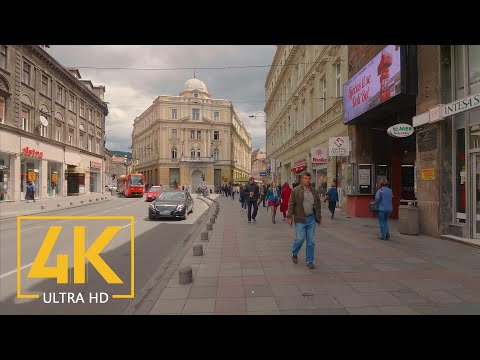 Virtual Walking Tour in 4K 60fps - SARAJEVO - The Capital of Bosnia and Herzegovina