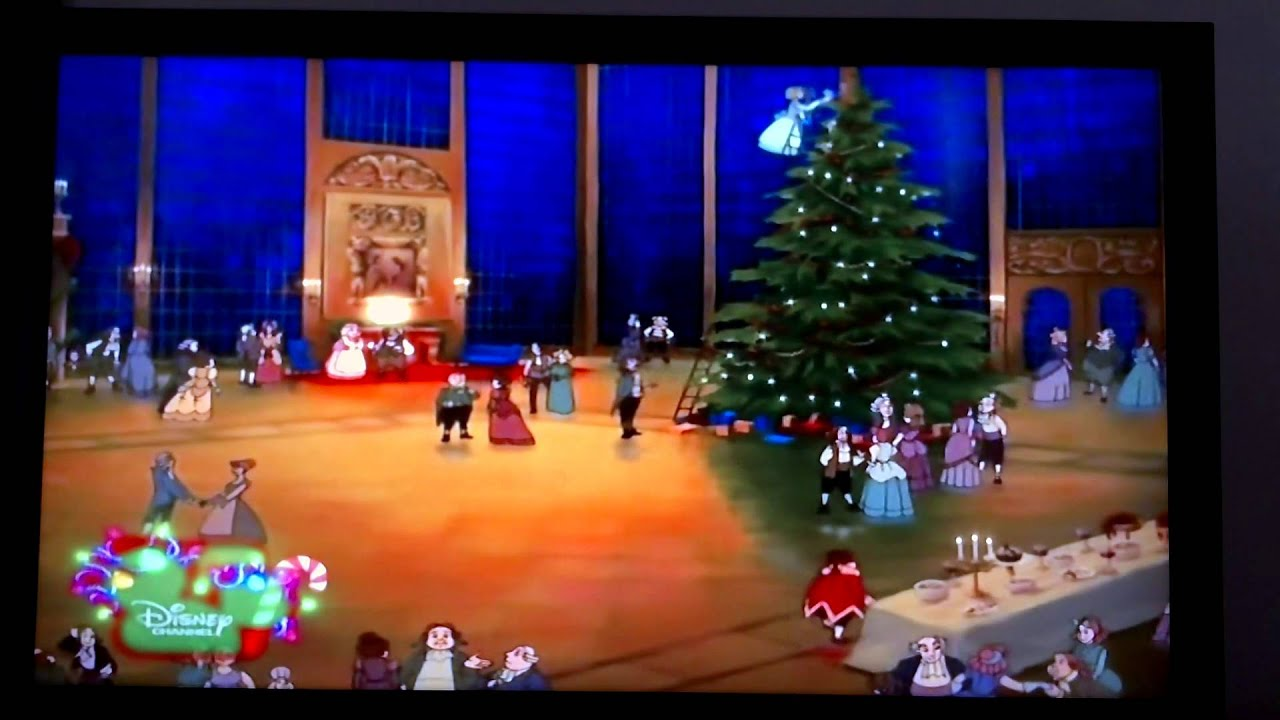 beauty and the beast 2 the enchanted christmas deck the halls malay - Disney Beauty And The Beast Christmas Decorations