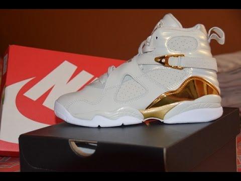 Jordan 8 Champagne GS Review + On Feet + BONUS!! - YouTube f4aad9b7f