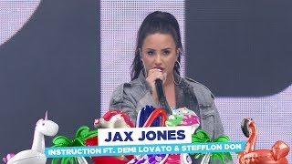 Jax Jones - 'Instruction' ft. Demi Lovato & Stefflon Don (live at Capital's Summertime Ball 2018)