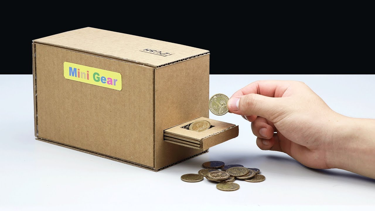 How to make automatic coin bank box youtube for How to make a coin bank