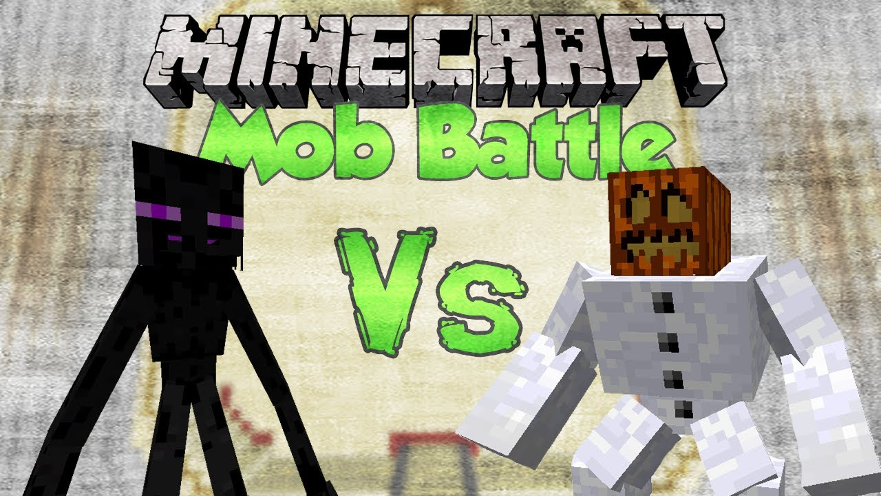 Mutant Enderman Vs Mutant Snow Golem Minecraft Mob