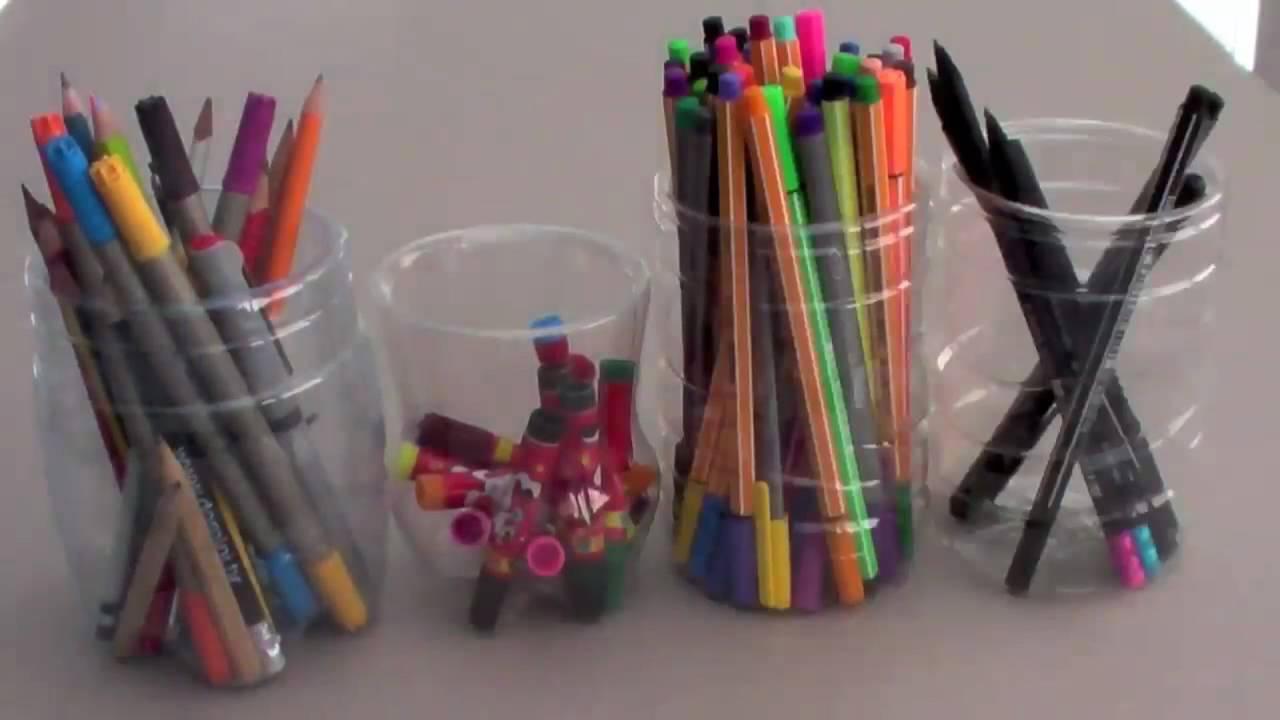 FluffySoap - DIY: Pencil Holder made from PET Plastic Bottles ... for Diy Plastic Bottle Pen Holder  113cpg