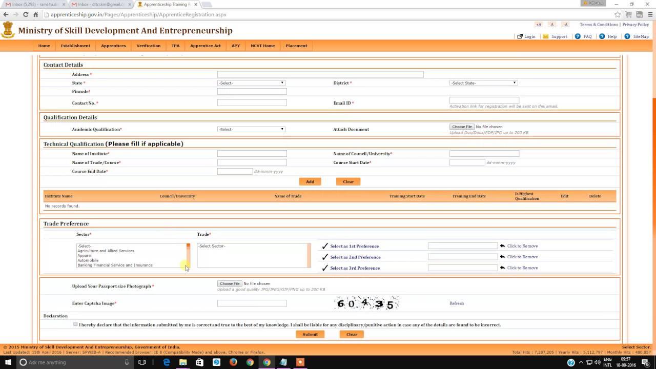 apprenticeship registration youtube