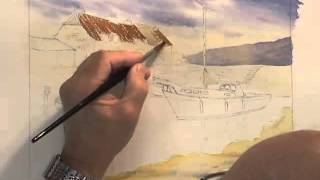 Watercolour Water Tutorial - Ripples at Porlock Weir (Part 1)