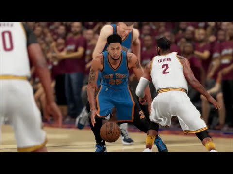 NBA 2K16 Playoffs Knicks vs Cavs | KYRIE GETS CROSSED | DOUBLE OVERTIME