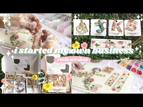 i started my own small business | resin art | packing | Eco-Friendly l