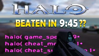 Halo Speedrun But I'm Literally Cheating
