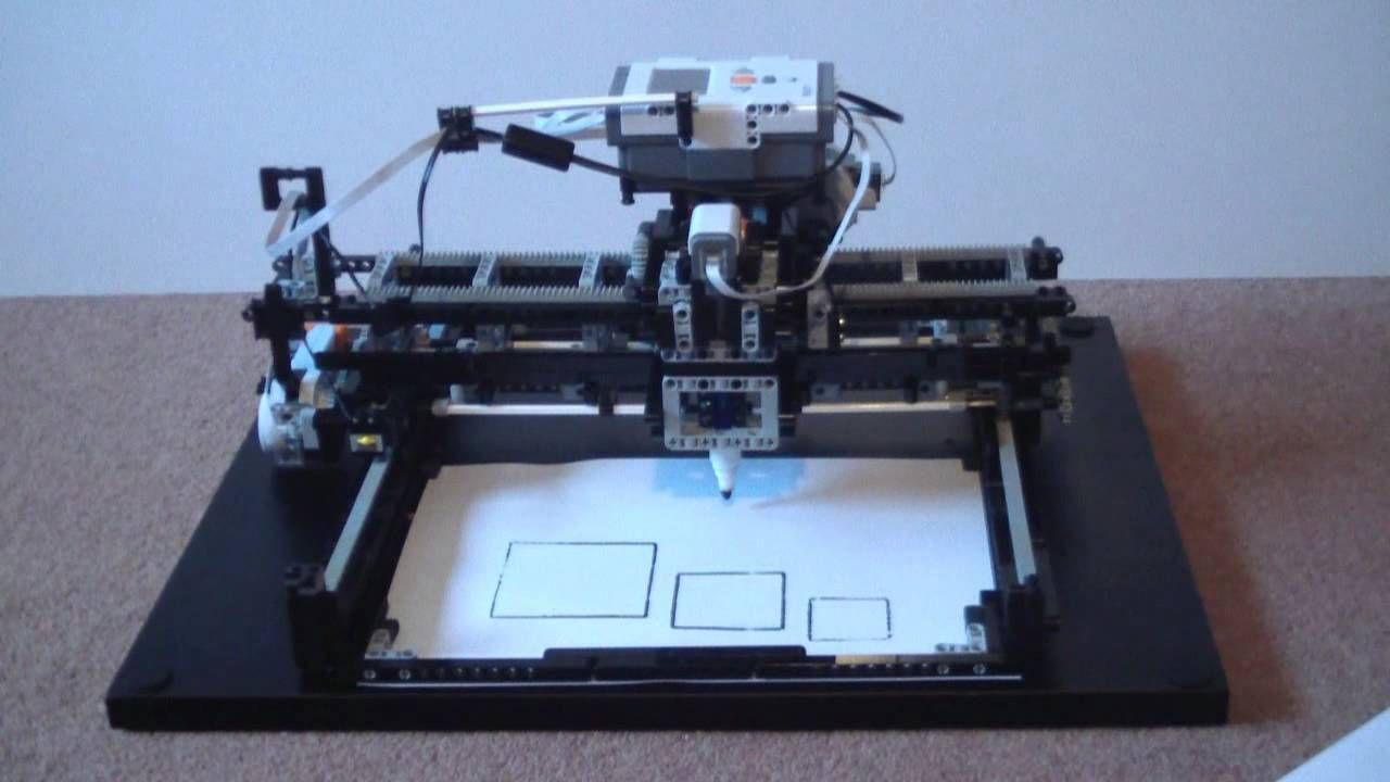 Lego Mindstorms Nxt X Y Plotter Youtube