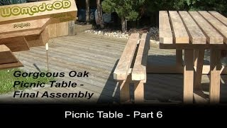 Build A Solid Picnic Table - Final Assembly