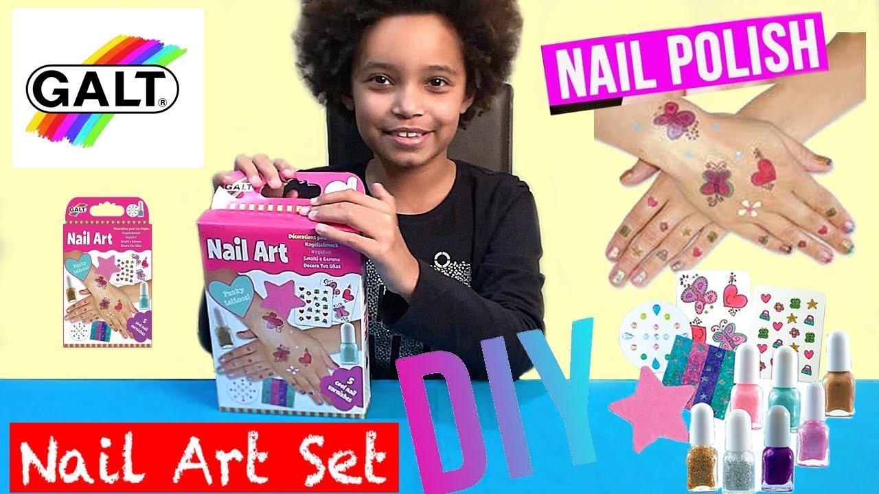 Galt Toys Nail Art Kit And Sparkles Fantastica Youtube