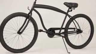 sixthreezero In the Barrel Matte Black - Cruiser Bike for Men