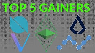 Top 5 Cryptos Leading The Market Recovery! VECHAIN, ONT, NANO, ETC, ETHOS AND MORE!