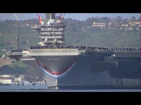 US Navy: USS Nimitz (CVN-68) Welcome Home (San Diego 03/2010)