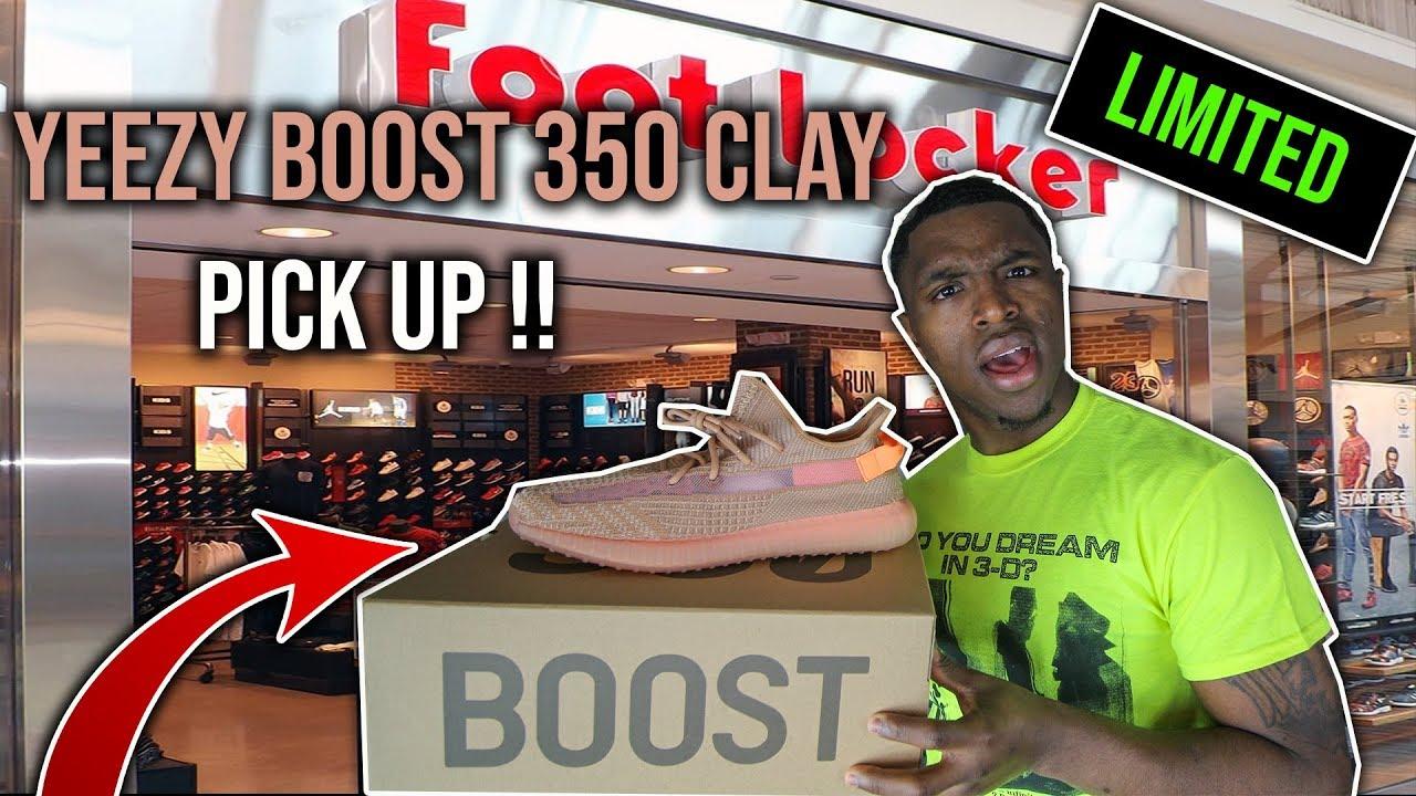 ae4ec85c Adidas Yeezy Boost 350 V2 Clay Pick Up Vlog - YouTube