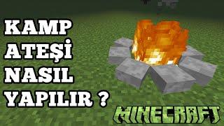 Minecraft | Kamp Ateşi Nasıl Yapılır ? - How To Make A Campfire ?