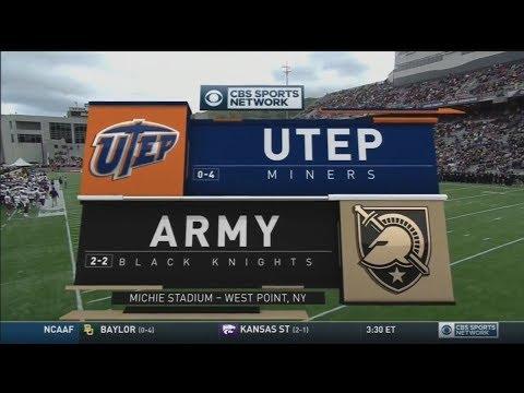 September 30, 2017 - UTEP Miners vs. Army Black Knights Full Football Game 60fps